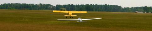 Vitorlázó repülőgép felvontatása sétarepüléshez