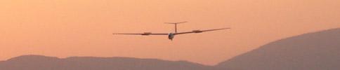 Vitorlázó repülőgép leszállása